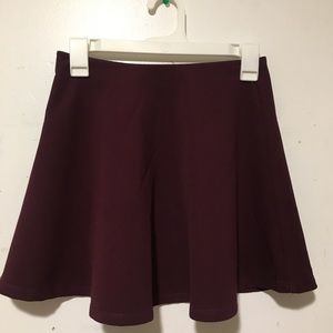 Forever 21 Small Burgundy Skater Skirt